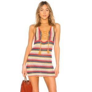 NWT Lovers & Friends Over The Rainbow Dress S